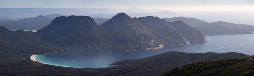 WINEGLASS BAY FROM MOUNT GRAHAM SUMMIT