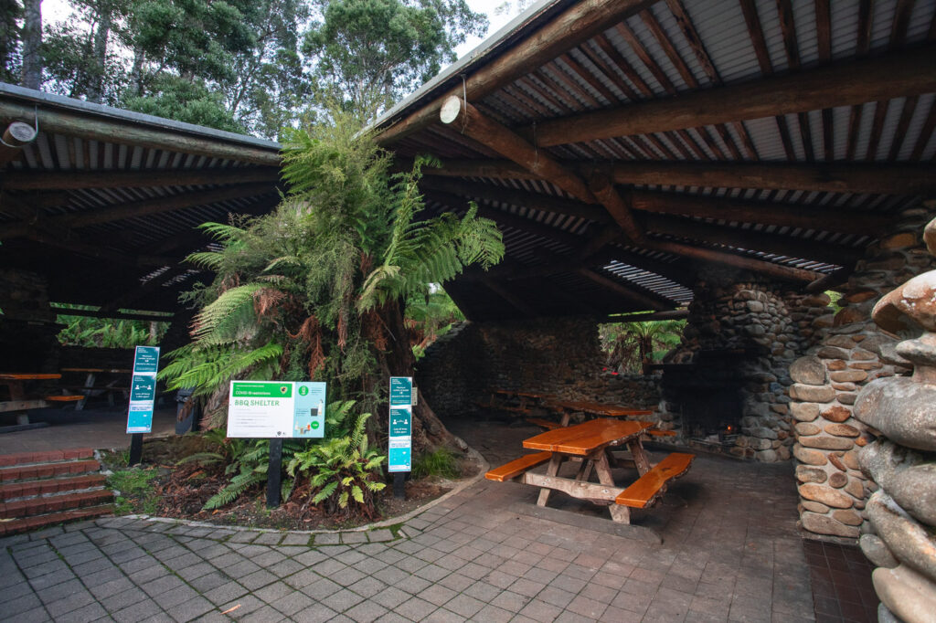 BBQ AREA NEAR HASTINGS CAVES THERMAL POOL