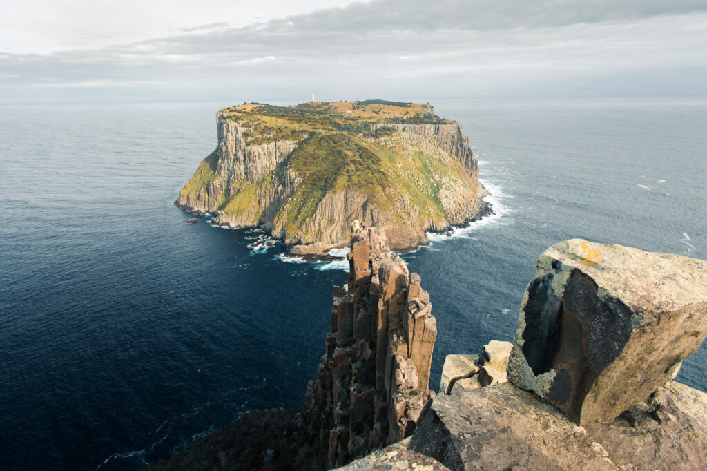 HIKING TO THE BLADE ON THE THREE CAPES TRACK AT CAPE PILLA TASMANIA
