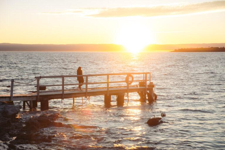 SUNSETS AT PICNIC ISLAND TASMANIA