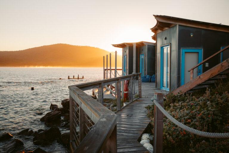 SUNSET ON PICNIC ISLAND TASMANIA