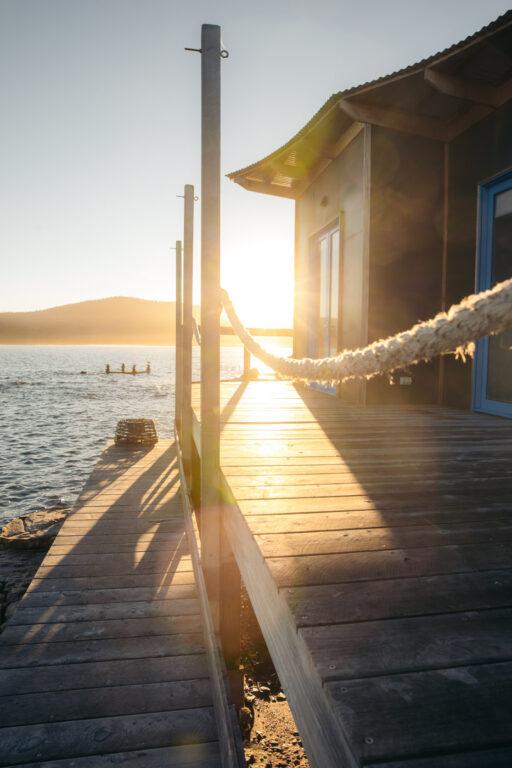 SUNSET AT PICNIC ISLAND TASMANIA