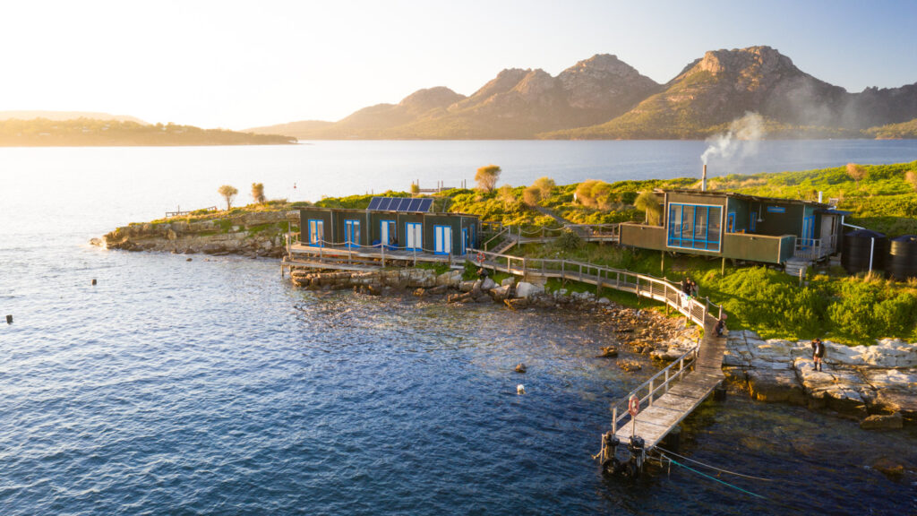 PICNIC ISLAND AND THE HAZARDS TASMANIA