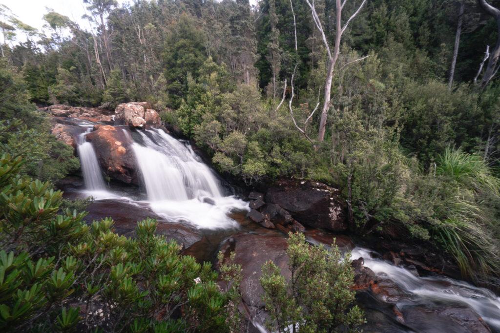 ARVE FALLS HARTZ MOUNTAINS NATIONAL PARK TASMANIA