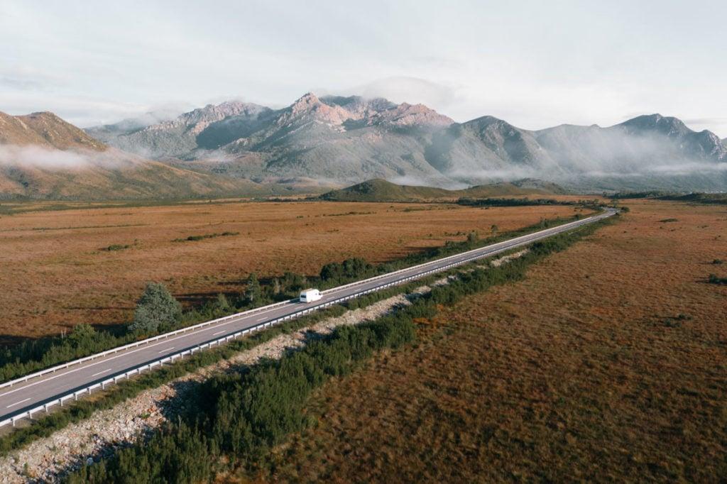 VAN TRAVEL IN TASMANIA