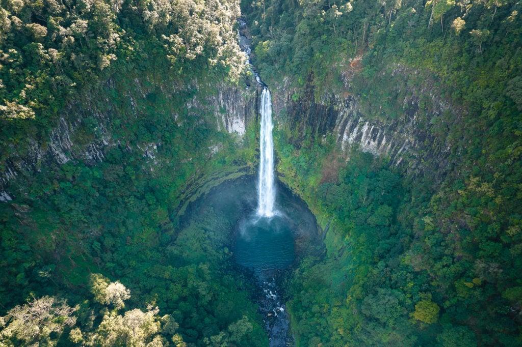 Cannabullen Falls aerial photo