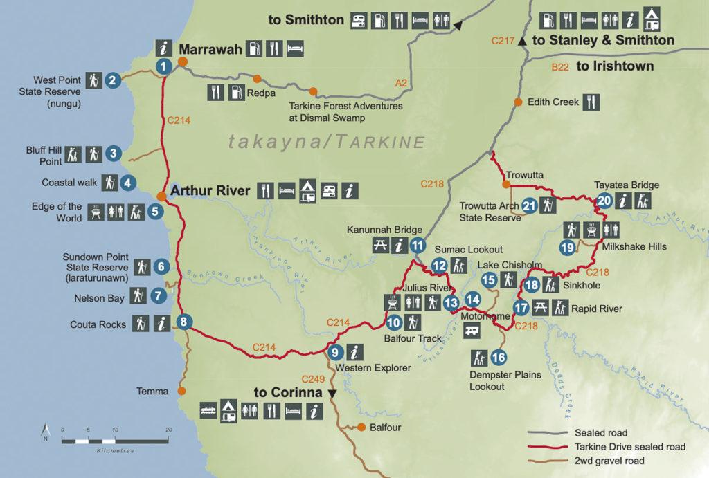 THE TARKINE DRIVE MAP