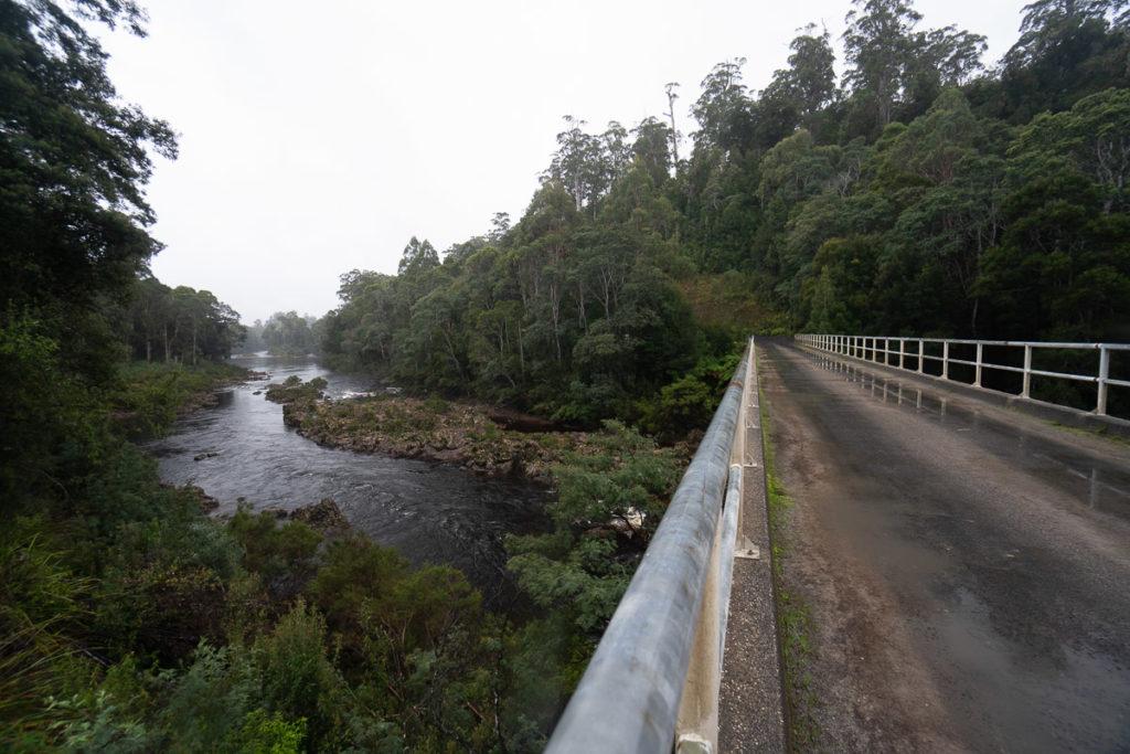 KANUNNAH BRIDGE ON THE TARKINE DRIVE IN TASMANIA