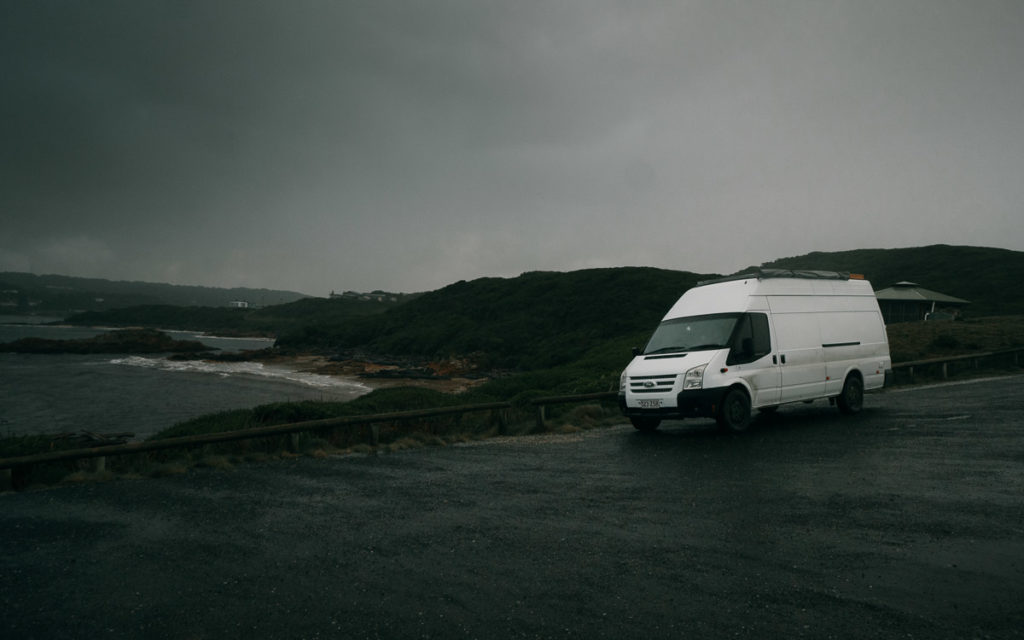 Camping at the edge of the world in Tasmania