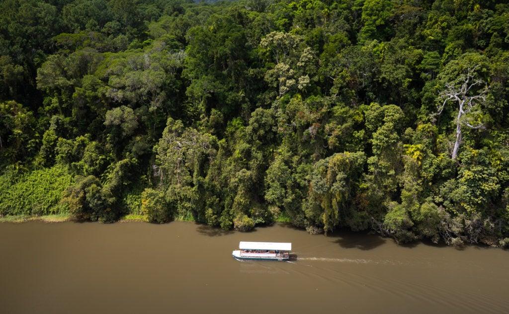 barron riverboat trip in kuranda, australia