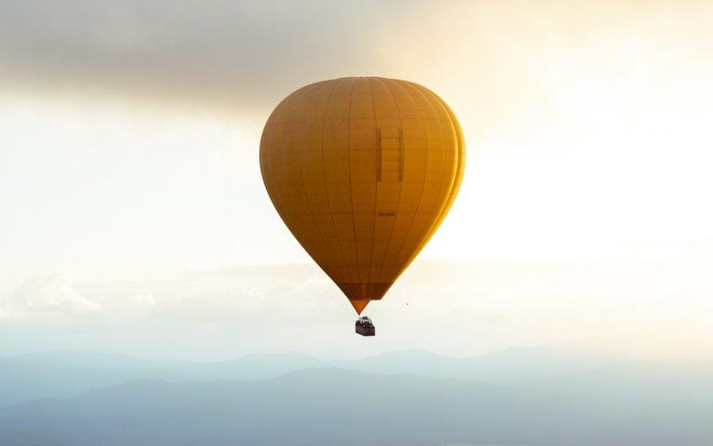 hot air cairns, ballooning in Mareeba