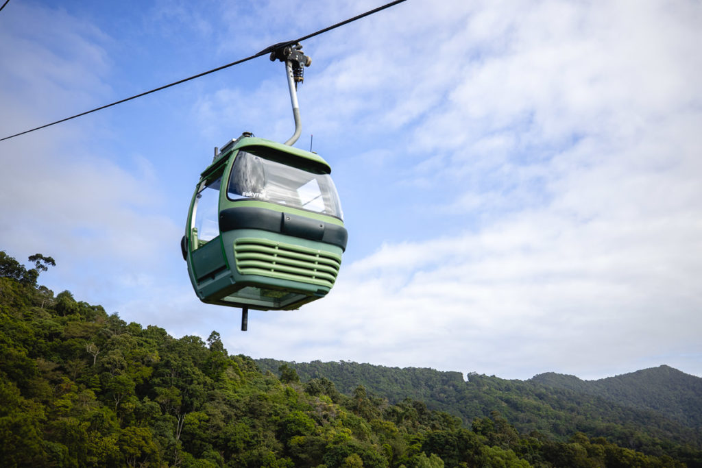 SKYRAIL CABLE CAR IN CAIRNS